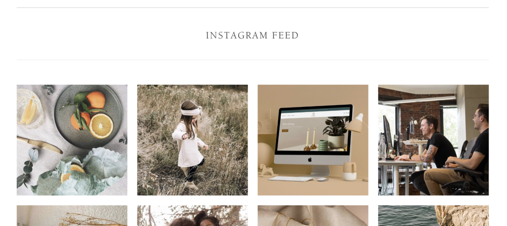 instagramのフィード