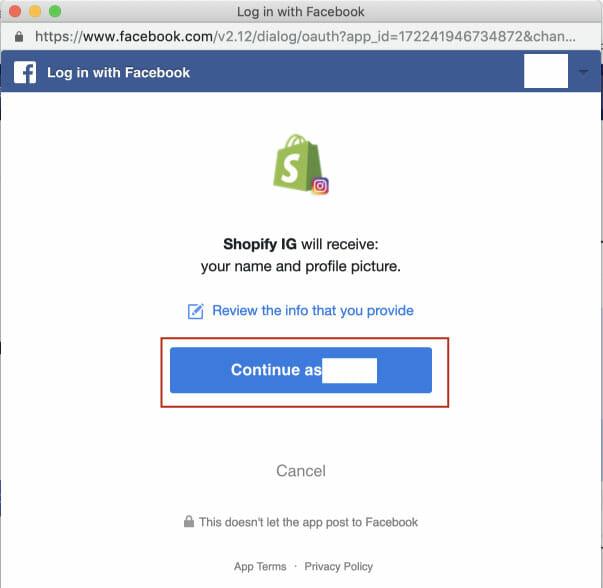 Facebookとinstaの連携2