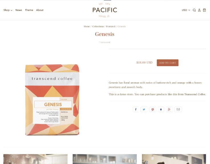 Pacificの商品ページ
