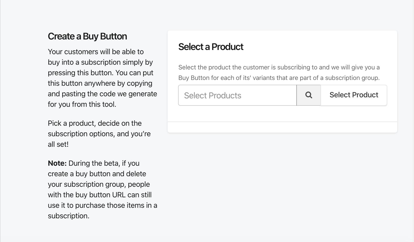 Buy Buttonの設定の画像