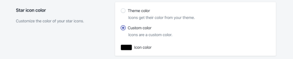 Star icon color
