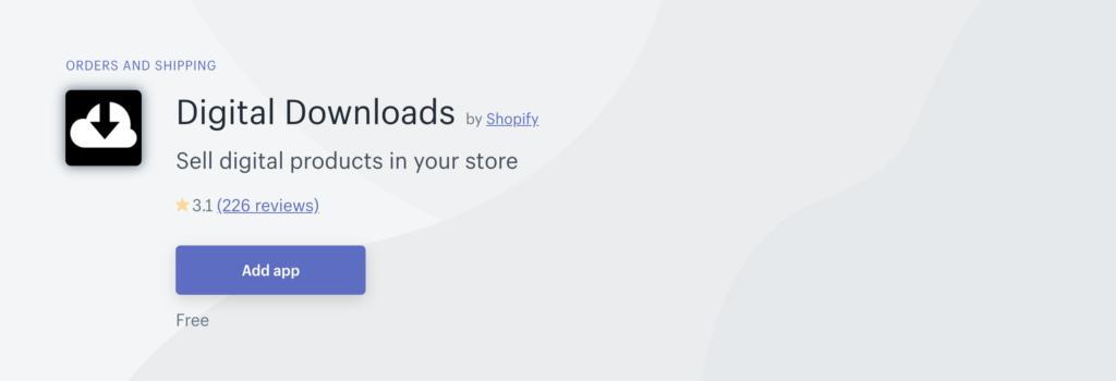 Digital Downloadsアプリ