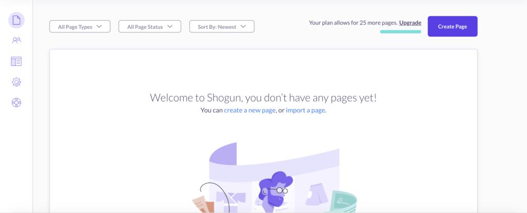 Shogunの管理画面